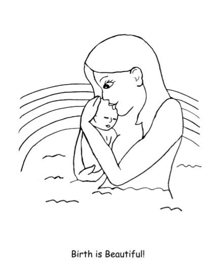 tales of a nulligravida: Free pregnancy coloring book for