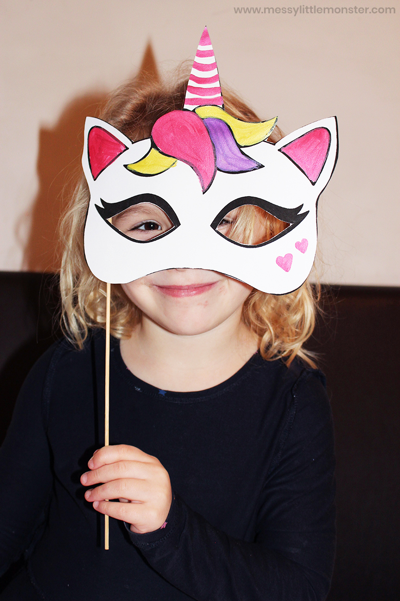 printable unicorn mask craft