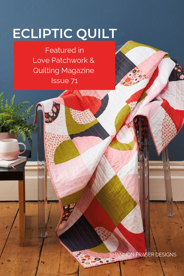 Ecliptic Quilt | Best of 2019 | Shannon Fraser Designs #quiltingcurves #modernquilt