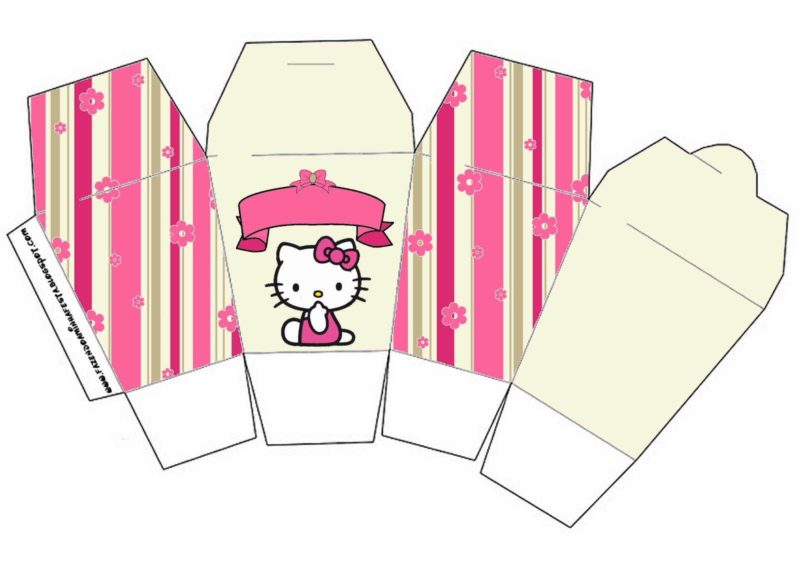 Hello Kitty With Flowers Free Printable Boxes