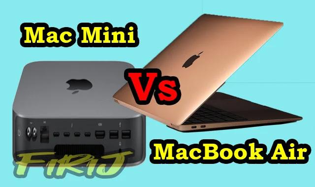 Comparaison entre Mac Mini contre MacBook Air