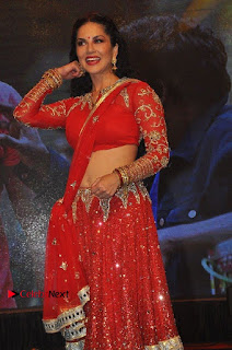 Bollywood Actress Model Sunny Leone Dance Performance in Red Half Saree at Rogue Audio Launch 13 March 2017  0013.jpg