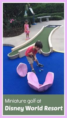 Playing miniature golf at Walt Disney World Resort