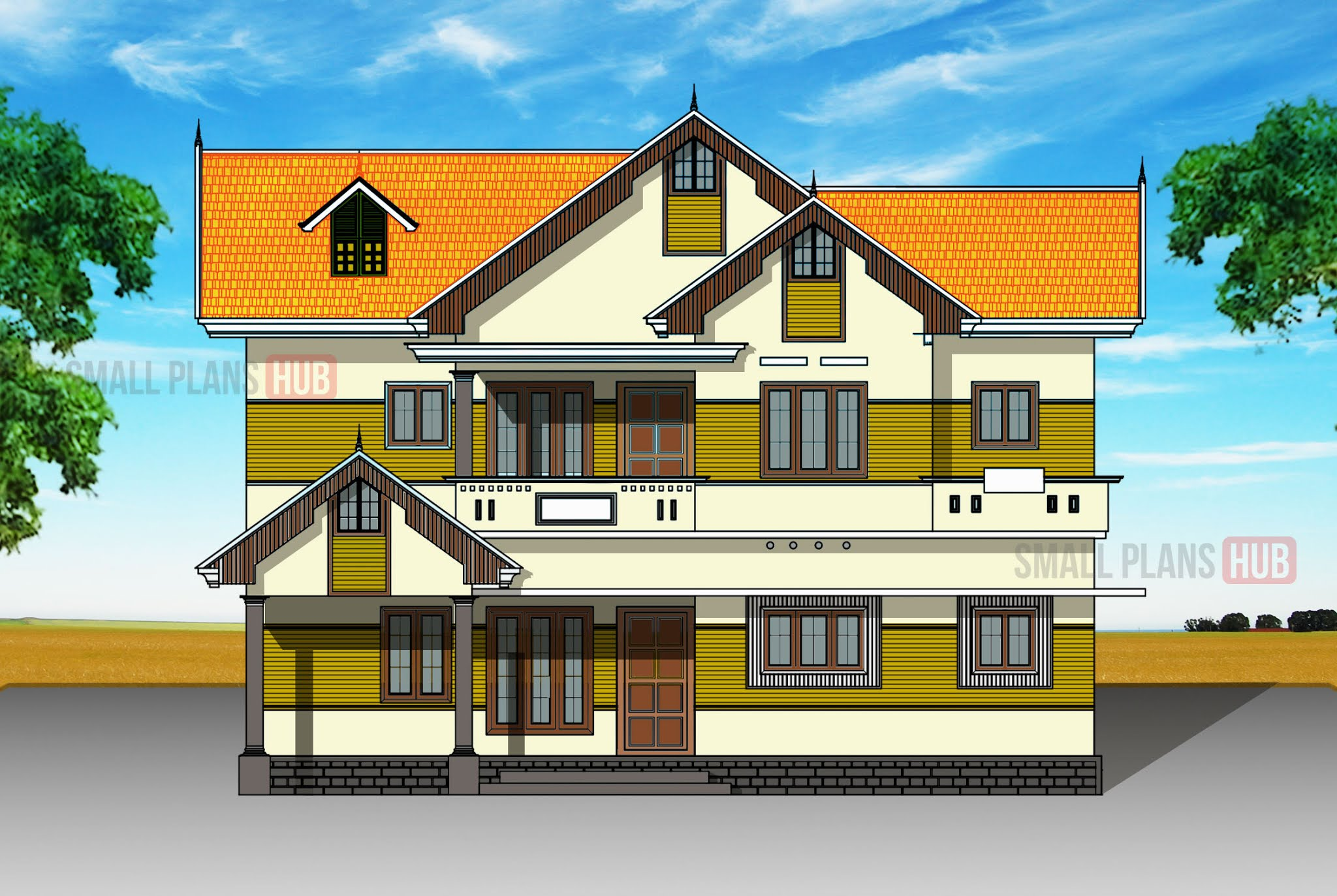 Kerala Style Double Storey House Plans Under 1600 Sq Ft For 5 5 Cent Plots Small Plans Hub