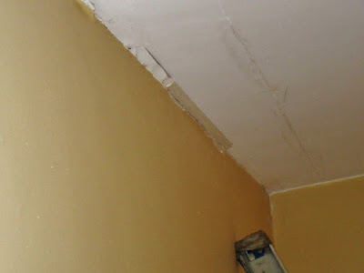 ceiling failure by bad plaster job.