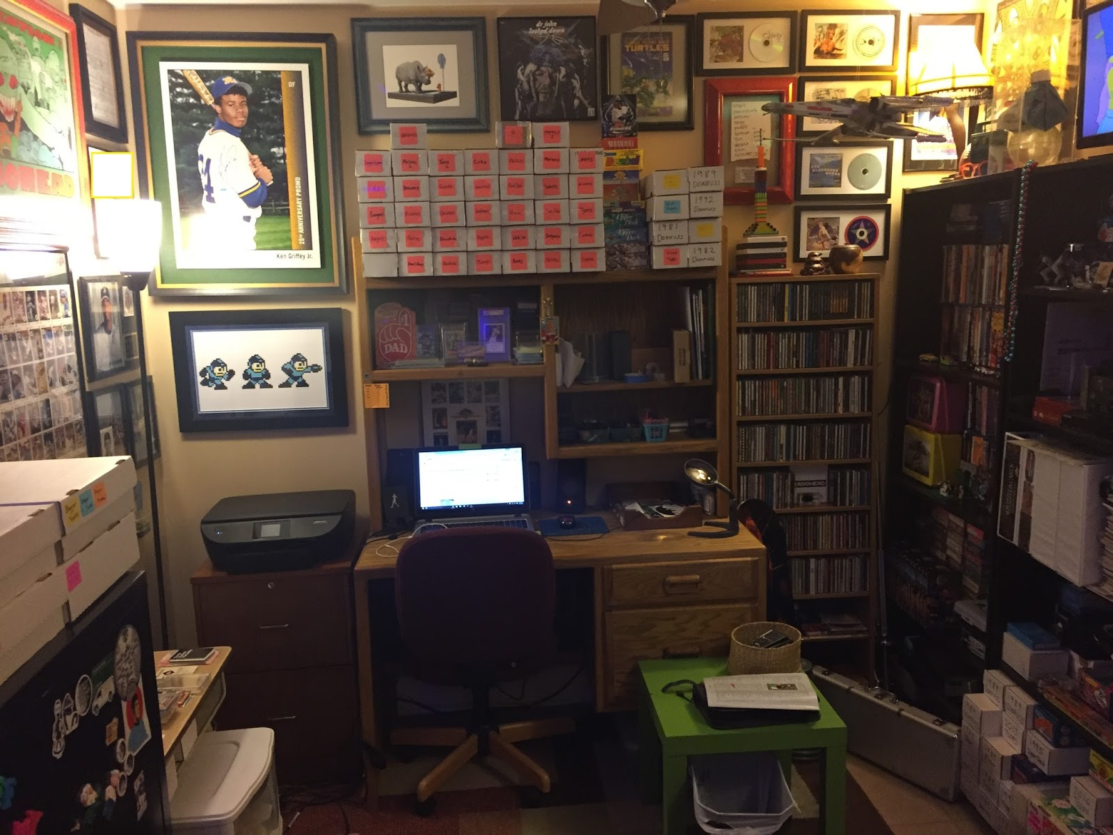 A Year Ago This Month I Had The Unique Opportunity To Turn Whole Room Into My Own Collecting Dungeon Office Man Cave Now That Has Passed