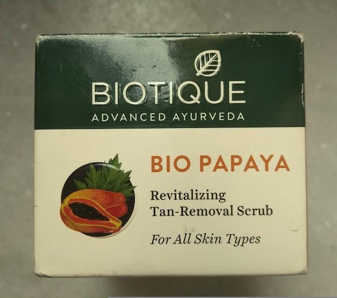 Biotique Tan Removal Scrub Review - Peachypinkpretty