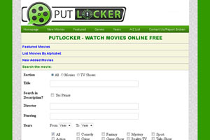 Putlocker's advanced movie search