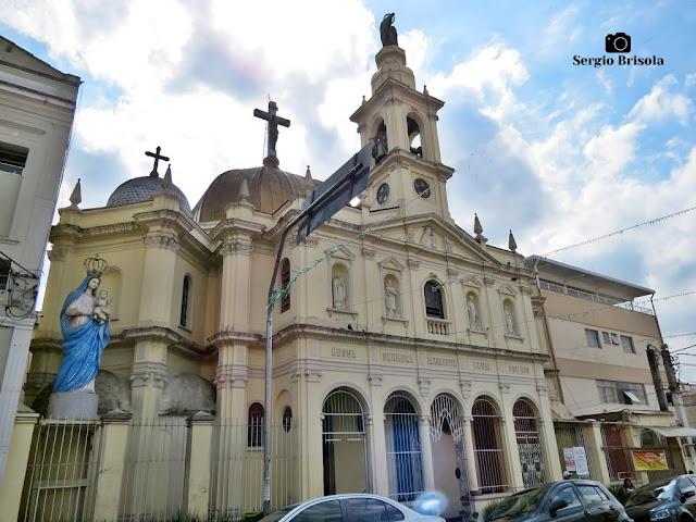 Vista ampla da famosa Paróquia Nossa Senhora Achiropita - Bixiga / Bela Vista - São Paulo