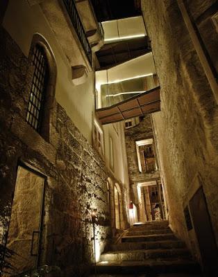 entrada do restaurante do hotel carris Porto Ribeira