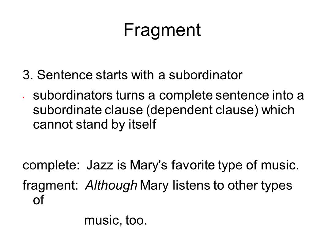 Sentence Fragments And Run Ons Worksheet