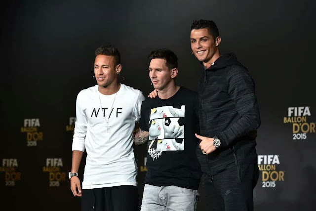 Ronaldo, Messi and Neymar up for 2017 Best FIFA Men's Player award