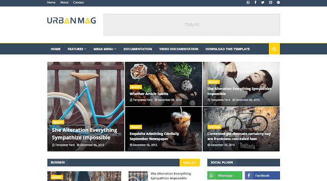 Download Free Premium Urban Mag Blogger Template - Premium Templates