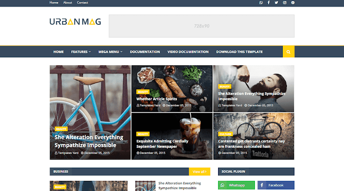 Download Free Premium Urban Mag Blogger Template