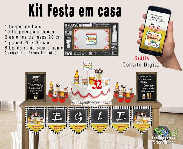 Festa Boteco Cerveja Antarctica Original dica decoração , os preços mais baratos para personalizados kit festa em casa