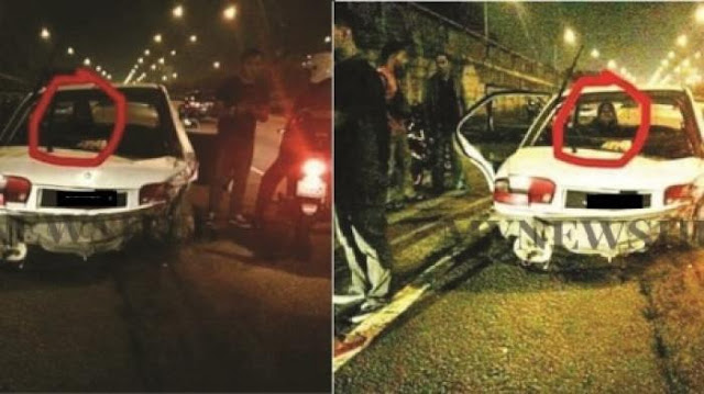 Penampakan Wanita Misterius di Foto Kecelakaan Ini, Arwah Atau Editan?