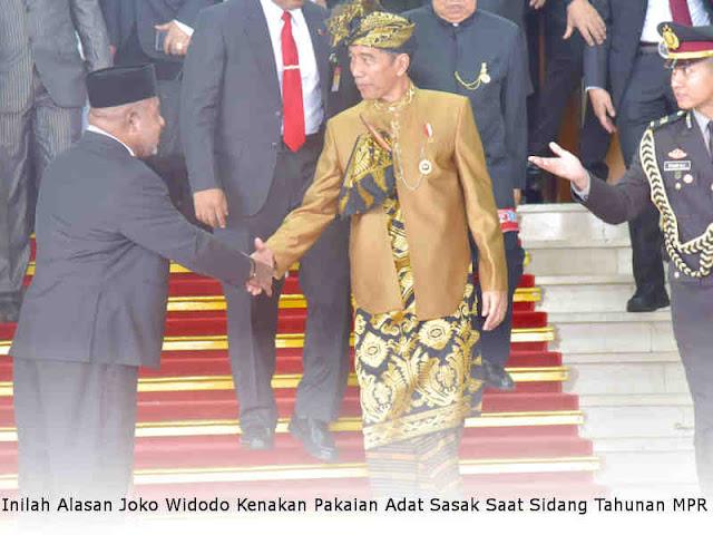 Inilah Alasan Joko Widodo Kenakan Pakaian Adat Sasak Saat Sidang Tahunan MPR