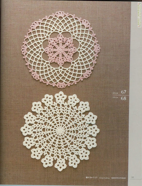 Motivos de Crochê Com Gráfico 22 - Revista Lacework Floral Design