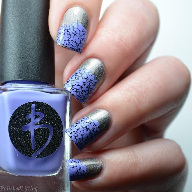 hydrangea nail art