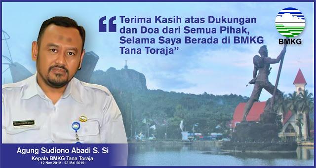 7 Tahun Mengabdi di BMKG Tana Toraja, Agung: Terima kasih untuk Semua Warga Toraja