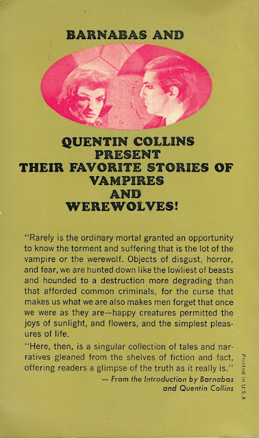 The Dark Shadows Book of Vampires and Werewolves Back Cover