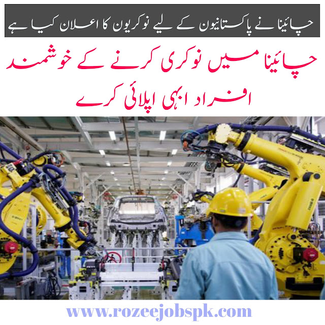 Jobs In China for Pakista