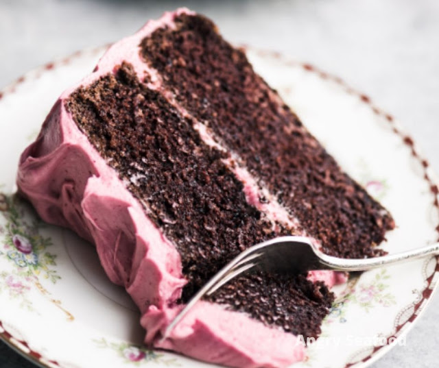 Chocolate Cake With Cranberry Buttercream