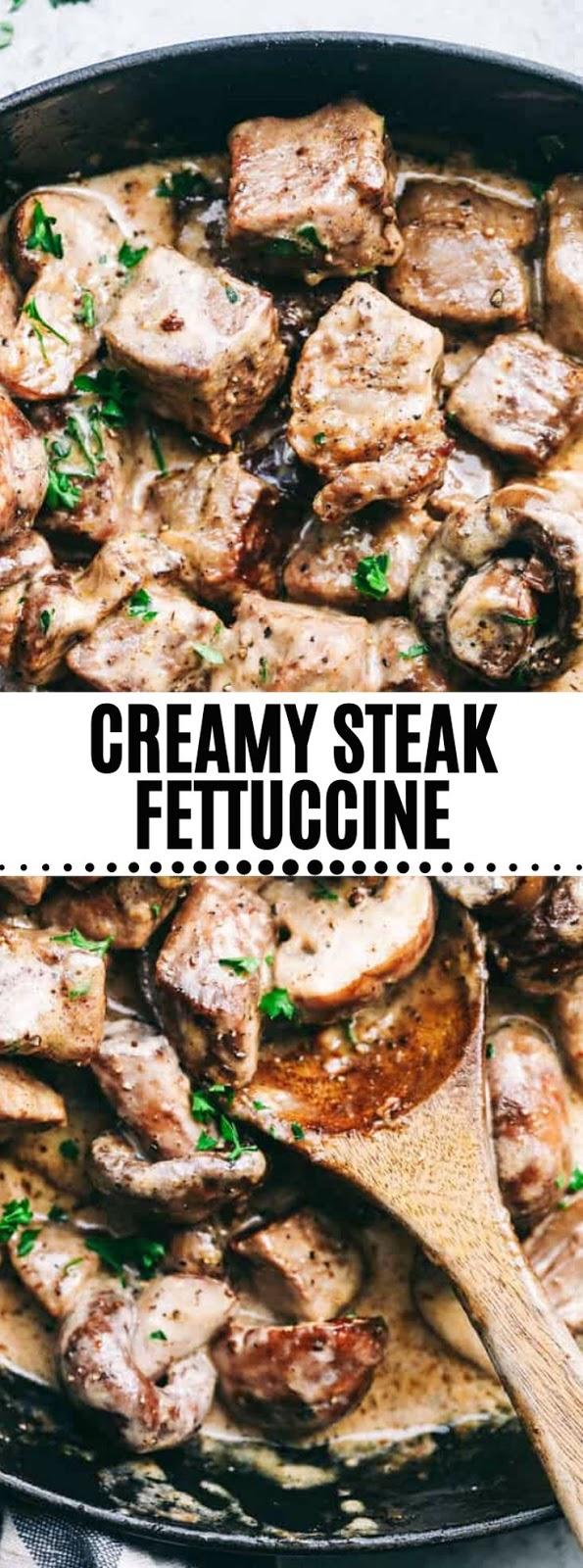 Creamy Steak Fettuccine
