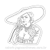 Lady Dimitrescu Pout Sticker para Colorir