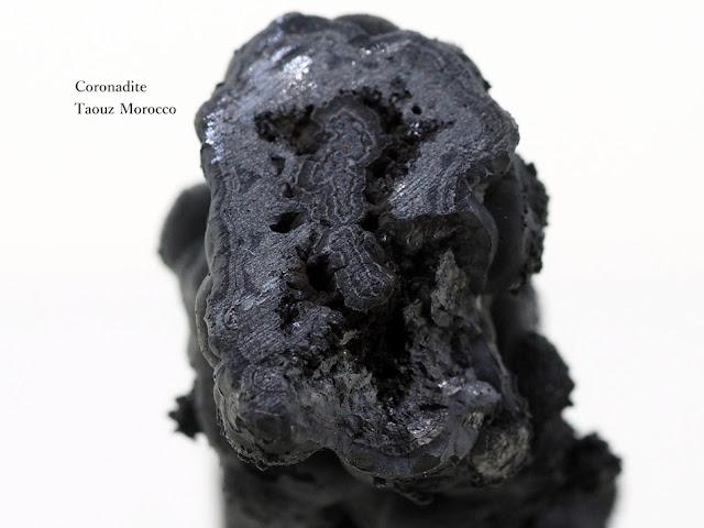 コロナダイト コロナド鉱 Coronadite Taouz Morocco