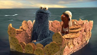cookie monster, Cookie's Crumby Pictures Life of Whoopie Pie. Sesame Street Episode 4417 Grandparents Celebration season 44