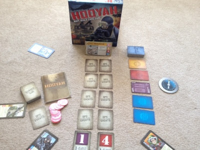 Hooyah cooperative board game in play