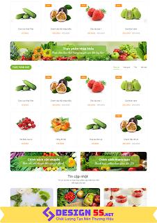 Theme blogspot bán hàng trái cây rau quả tươi mát, VSM20 - Ảnh 2