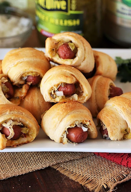 Platter of Pigs In a Blanket With the Works Image