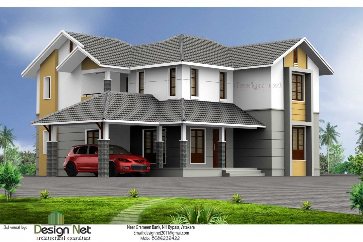 Kerala Style Home Exterior 3d Views From Design Net