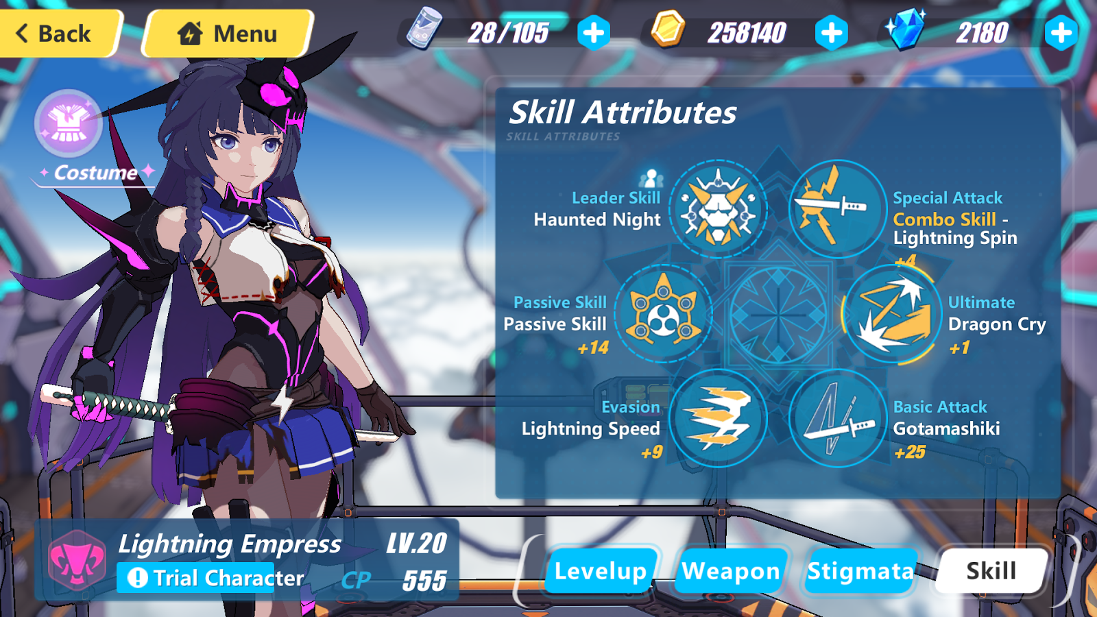 Honkai Impact 3rd SEA Unofficial Database: Lightning Empress Details