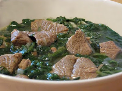 Enjoy this tasty recipe on a cold winter night Spinach with Meat Stew Recipe