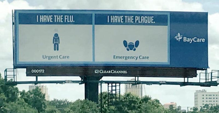 Hospital Uses Brilliant Ads To Inform People About The Difference Between Urgent And Emergency Care