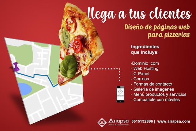 Diseño de paginas web para pizzerías