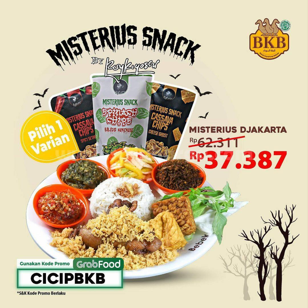 BEBEK BKB Promo Paket Misterius Djakarta X Misterius Snack Harga cuma 37.387