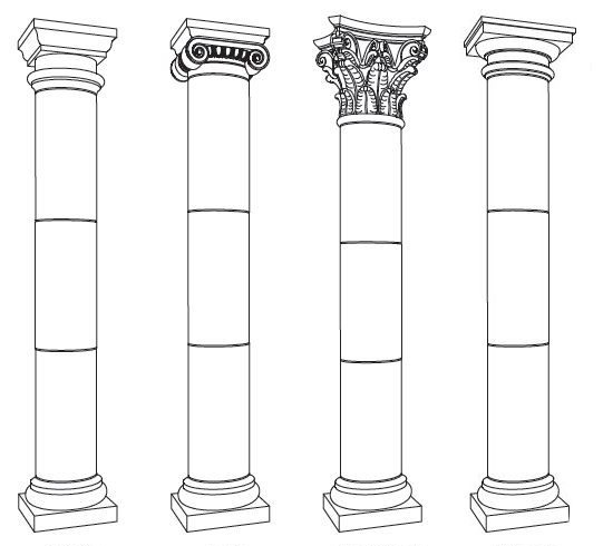 Semua Jenis dan Gaya Kolom, Posting, dan Pilar Pada Bangunan
