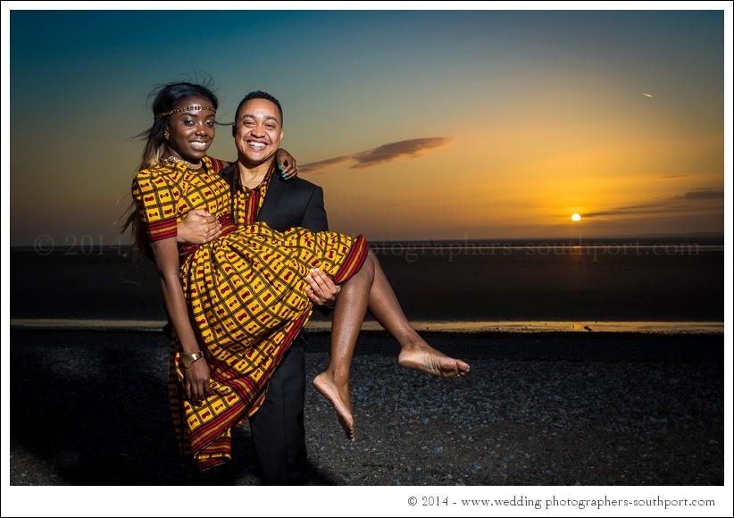 Pre wedding photography morcambe beach