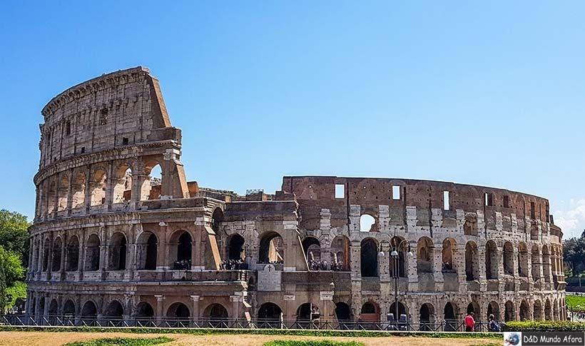 Coliseu em Roma - Diário de Bordo: 3 dias em Roma