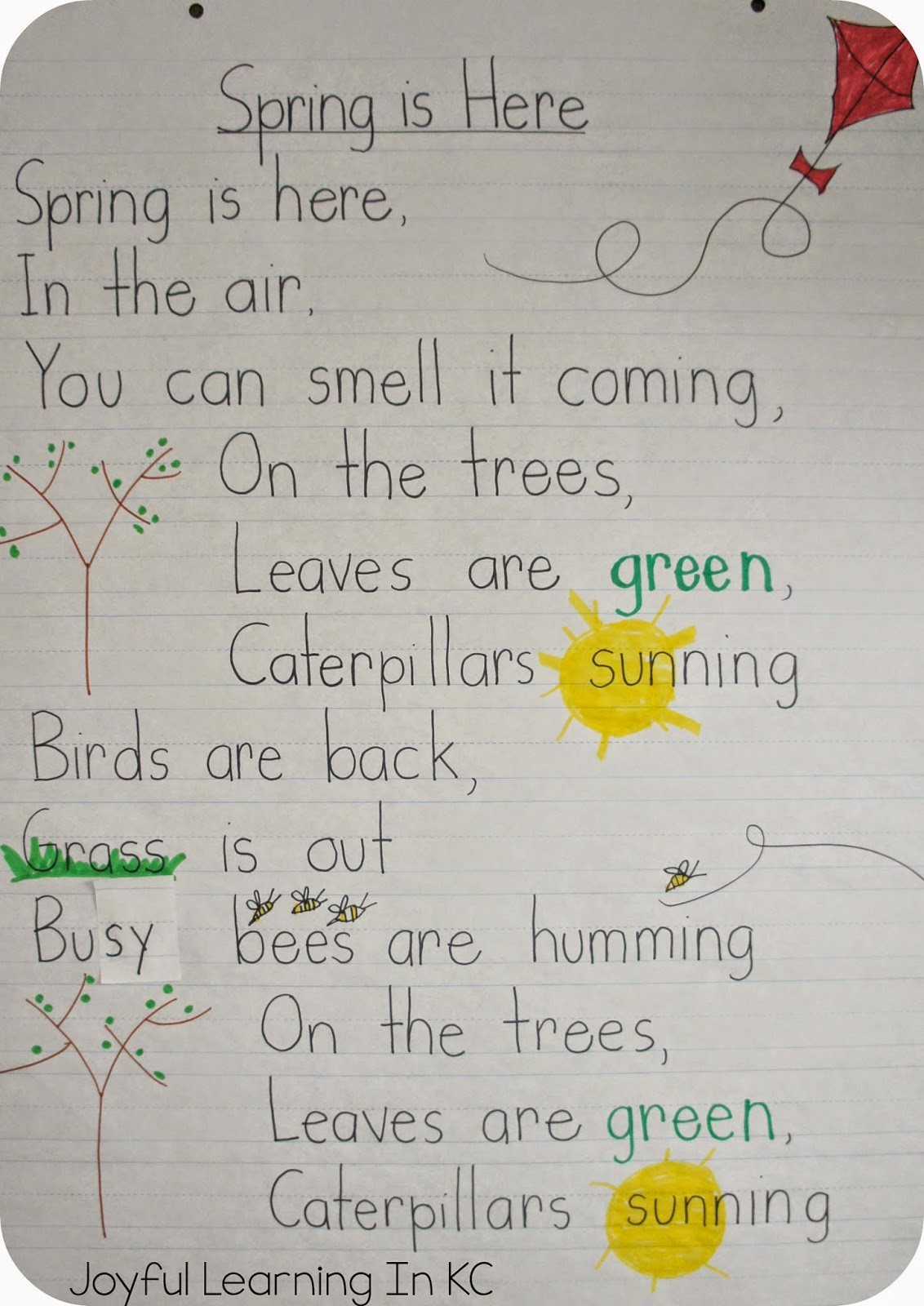 Joyful Learning In Kc Spring Poems For Shared Reading Time