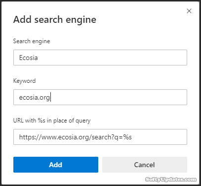 Add a New Search Engine in Microsoft Edge