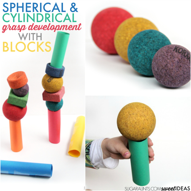 Cylindrical and spherical grasp development and KORXX blocks