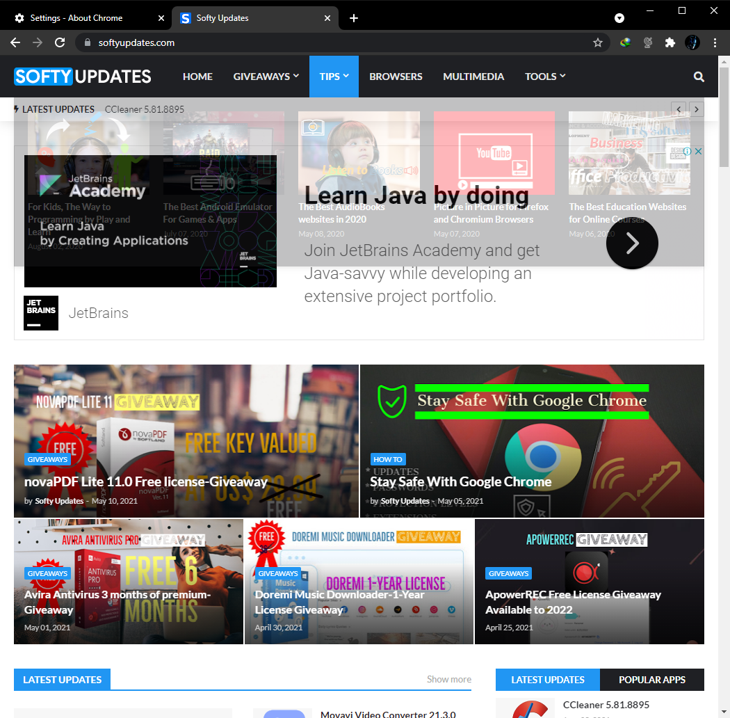 Google Chrome Browser 91.0.4472.101