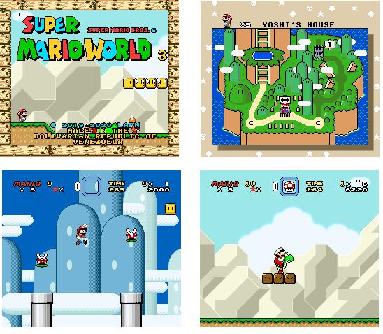 Super Mario World 3 El Hack ROM Innovador Super%2BMario%2BWorld%2B3%2Bv1.0%2Bcollage%2B1