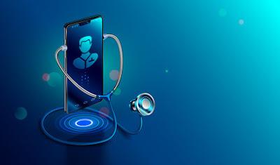un telefono movil con un doctor en la pantalla
