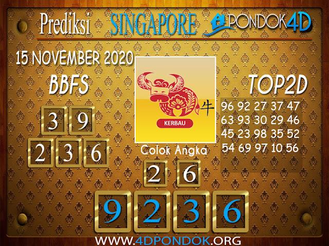 Prediksi Togel SINGAPORE PONDOK4D 15 NOVEMBER 2020